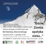 zaproszenie na wernisaż wysawy zdjęć Bartłomieja Zborowskiego 6 grudnia 2019 godz. 18