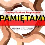 Gminny Konkurs Recytatorski Pamiętamy, Mosina 27 listopada 2019