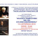 zaproszenie na spotkanie z Tadeuszem Panowiczem, 14 listopada 2019 godz. 18