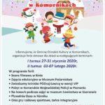 Plaka Zimy 2020 z Gminnym Ośrodkie Kultury w Komornikach