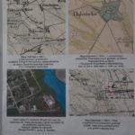plansza z mapami grodu w Dąbrówce