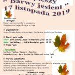Plakat radju pieszego Barwy Jesieni 17 listopada 2019