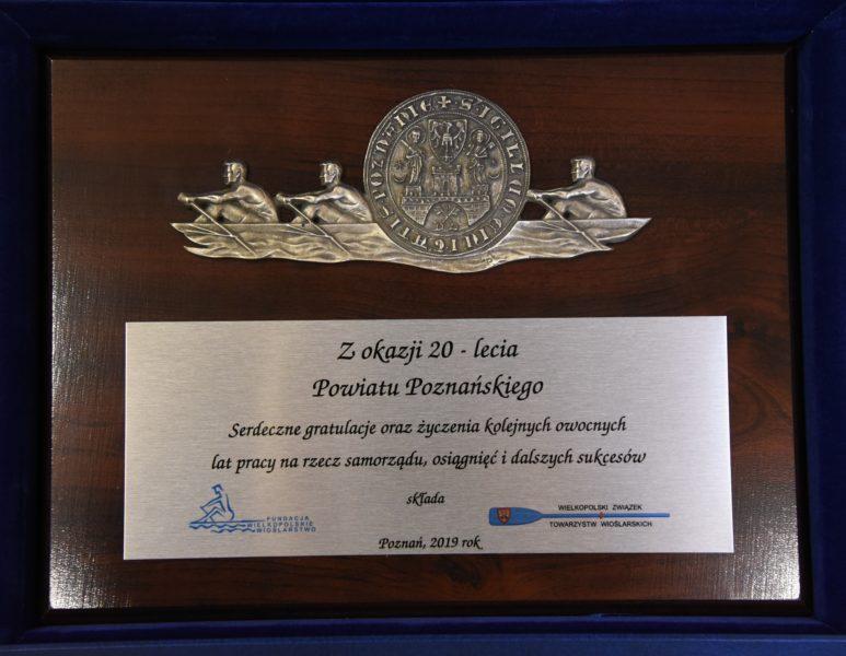 Gratulacje z okazji 20-lecia Powiatu Poznańskiego