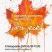 plakat warsztatów plastycznych dla dzieci - złota jesień - 8 listopada 2019 godz. 16:30-17:30