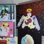 prace osób z niepełnosprawnościmi wystawione podczas Wieczoru z Aniołami
