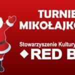 grafika ze świętym Mikołajem i napisem informującym o Turnieju Mikołajkowym