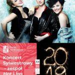 plakat koncertu sylwestrowego zespół Hot Lips 31 grudnia 2019
