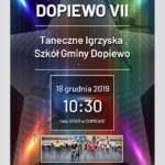 Plakat Tanecznych Igrzysk Szkół Gminy Dopiewo 18 grudnia 2019 godz. 10:30