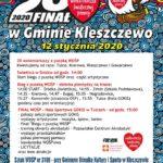 plakat 28 finału WOŚP w Kleszczewie