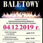 plakat poranka baletowego 4 grudnia 2019