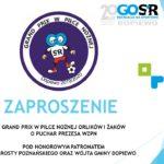 zaproszenie na grand prix w piłce nożnej orlików i żaków w Dopiewie