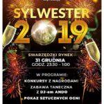 plakat sylwestra 2019 w Swarzędzu 31 grudnia 2019 23:30-1:00