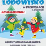plakat lodowiska w plewiskach od 6 grudnia
