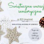 zaproszenie na świąteczne warsztaty sensoryczne 13 grudnia 16:30-18:30
