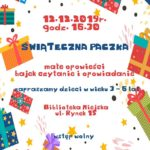 plakat świątecznej paczki 12 grudnia 2019 godz 16:30