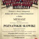 koncert z okazji inauguracji rokou bp Jana Lubrańskiego w Buku 15 grudnia 2019 godz. 16:30