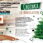 plakat choinka za makulaturę - świąteczna akcja Głosu Wielkopolskiego - 17 grudnia targowisko miejskie w Mosinie