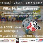 plakat wielkopolskiego turnieju sylwestrowego 2019 Piłka Nożna Dziewcząt 28 grudnia godz. 8:30