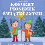 plakat koncertu piosenek świątecznych 19 grudnia 2019 godz. 18 w Kostrzyniance
