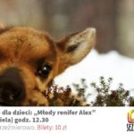 """zapowiedź kina zielone oko dla dzieci """"Młody renifer Alex"""" 5 stycznia 2020 godz. 12:30"""