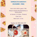 zaproszenie na warsztaty kulinarne - pizza 16 stycznia 2020 godz. 17