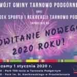 zaproszenie na wspólne powitanie Nowego Roku 1 stycznia 2020 godz. 18