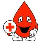 uśmiechnięta czerwona kropelka krwi