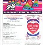 Plakat 28 finału WOŚP w Komornikach