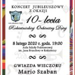 Plakat na koncert na 8 lutego 2020
