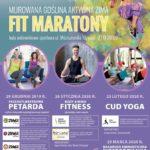 Plakat na fit maraton w Murowanej Goślinie na 26 stycznia i 23 lutego 2020