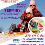 Plakat półkolonii zimowych 2020 w Pobiedziskach