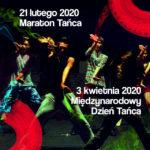 Plakat zajęć tanecznych na 21 lutegi i 3 kwietnia 2020