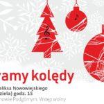 Plakat na śpiewanie kolęd na 26 stycznia 2020 w Tarnowie Podgórnym