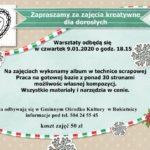 Plakat na zajęcia kreatywne dla dorosłych na 9 stycznia 2020 w Rokietnicy