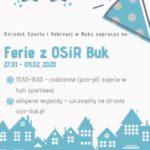 Plakat półkoloni zimowych 2020 w Buku