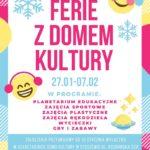 Plakat półkoloni zimowych 2020 w Stęszewie