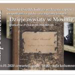 Plakat na spotkanie oświatowe w Mosinie na 16 stycznia 2020