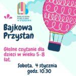 Plakat na głośne czytanie dla dzieci na 4 stycznia 2020 w Stęszewie