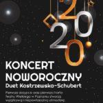 Plakat na koncert noworoczny na 16 stycznia 2020 w Luboniu