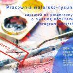 Plakat na zajęcia malarskie na 13 lutego 2020
