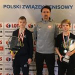 Uczestnicy Halowych Mistrzostw Polski do lat 12 w tenisie