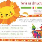 Plan zajęć podczas ferii zimowych 2020 w Tarnowie Podgórnym
