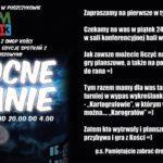 Plakat nocnego grania na 24 stycznia 2020