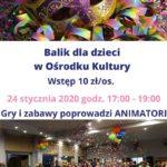 Plakat na balik dla dzieci na 24 stycznia 2020
