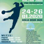 plakat turnieju piłki ręcznej od 24 do 26 stycznia 2020