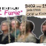 Plakat na spektakl w Koziegłowach na 14 lutego 2020