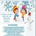 Plakat ferii zimowych 2020 w Komornikach