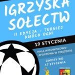 Plakat na Igrzyska Sołectw na 19 stycznia 2020 w Stęszewie