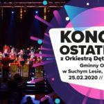 Plakat na koncert ostatkowy na 25 lutego 2020