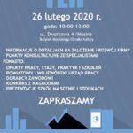 Plakat targów edukacyjnych w Mosinie na 26 lutego 2020